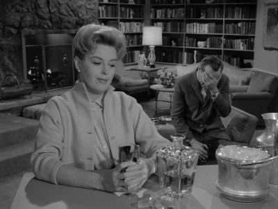 "Patricia Donahue and James Daly in a scene from ""A Stop at Willoughby,"" a 1960 ""Twilight Zone"" episode about the pressures of workplace harassment."