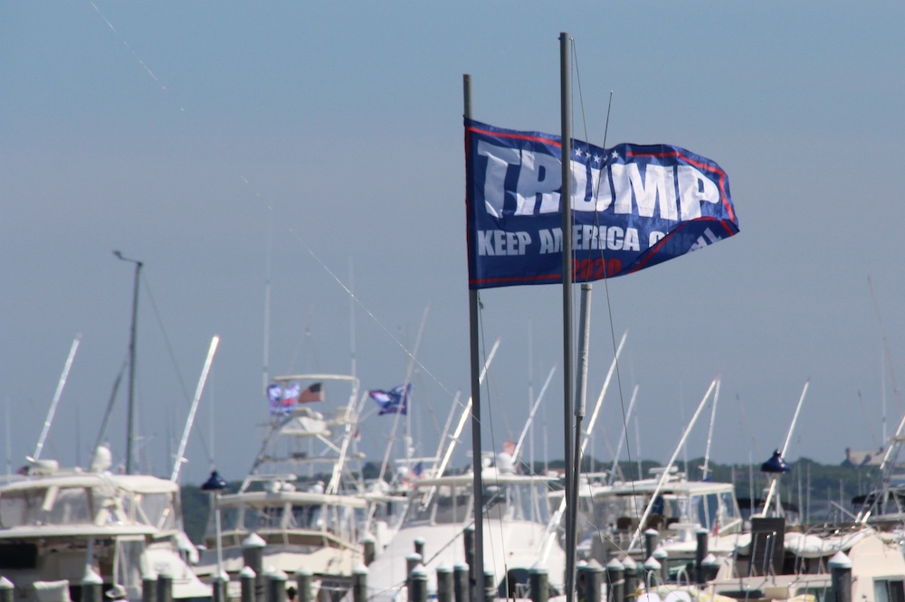 As Trump Visits South Fork A Flotilla And High Dollar Meet And Greets The East Hampton Star