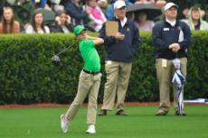 """A pretty swing . . . high extension on the follow-through,"" a Golf Channel announcer said as 12-year-old James Bradley of Springs launched a drive at Augusta National."