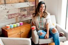 Brittany Torres makes, packages, delivers, and ships all of her Hamptons Handpoured candles herself.