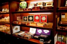 Cigars, whether inexpensive or high end, are stored in a climate-controlled room.