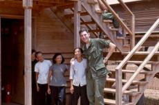 Jim Lubetkin in 1968 outside his barracks at Long Binh, Vietnam, America's largest military facility outside the United States. These women, along with thousands of other Vietnamese, would work at the base during daylight hours and return to their nearby villages at night.
