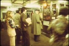 This photo of the New York City subway system's Eighth  Avenue line was taken in 1974, in many ways a golden age of waiting.