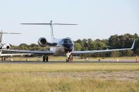 A private jet at East Hampton Airport